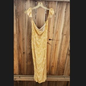 Sage the Label mustard/ivory midi sundress NWT